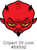 Royalty-Free (RF) devil Clipart Illustration #59592