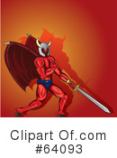 Royalty-Free (RF) devil Clipart Illustration #64093