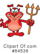 Royalty-Free (RF) devil Clipart Illustration #64536