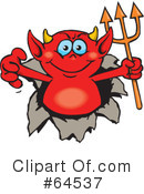 Royalty-Free (RF) devil Clipart Illustration #64537