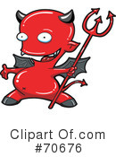 Royalty-Free (RF) devil Clipart Illustration #70676
