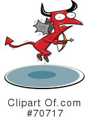 Royalty-Free (RF) devil Clipart Illustration #70717