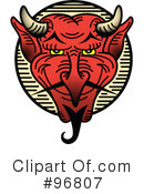 Royalty-Free (RF) devil Clipart Illustration #96807