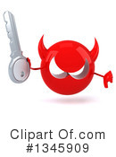 Devil Head Clipart #1345909 by Julos
