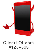 Devil Smart Phone Character Clipart #1284693 by Julos