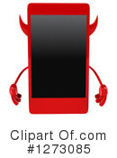 Devil Smart Phone Clipart #1273085