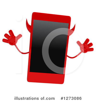 Devil Smart Phone Clipart #1273086 by Julos