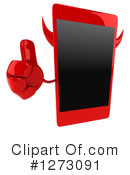 Devil Smart Phone Clipart #1273091 by Julos