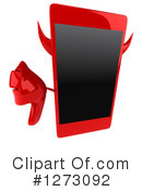 Royalty-Free (RF) Devil Smart Phone Clipart Illustration #1273092