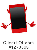 Devil Smart Phone Clipart #1273093 by Julos