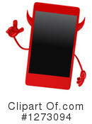 Devil Smart Phone Clipart #1273094 by Julos