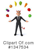 Devil White Businessman Clipart #1347534 by Julos
