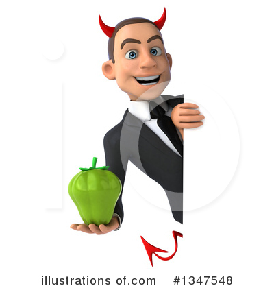 Royalty-Free (RF) Devil White Businessman Clipart Illustration by Julos - Stock Sample #1347548