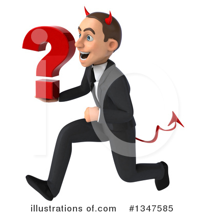 Royalty-Free (RF) Devil White Businessman Clipart Illustration by Julos - Stock Sample #1347585