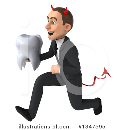 Royalty-Free (RF) Devil White Businessman Clipart Illustration by Julos - Stock Sample #1347595