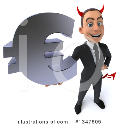 Royalty-Free (RF) Devil White Businessman Clipart Illustration by Julos - Stock Sample #1347605