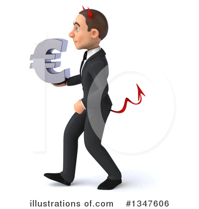 Royalty-Free (RF) Devil White Businessman Clipart Illustration by Julos - Stock Sample #1347606