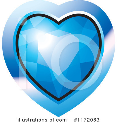 Diamond Heart Clipart #1172083 by Lal Perera