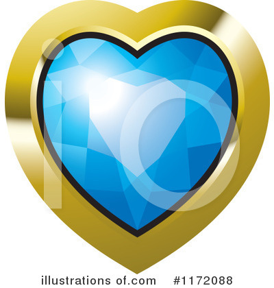 Diamond Heart Clipart #1172088 by Lal Perera