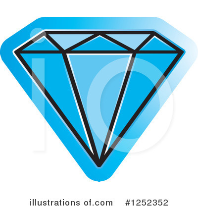 Diamond Clipart #1252352 by Lal Perera
