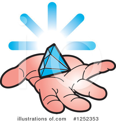 Diamond Clipart #1252353 by Lal Perera