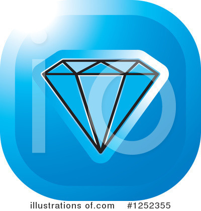 Diamond Clipart #1252355 by Lal Perera