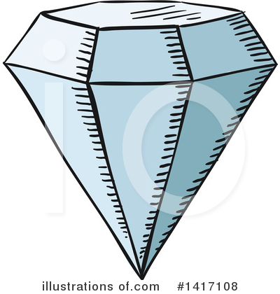 Diamond Clipart #1417108 by Vector Tradition SM