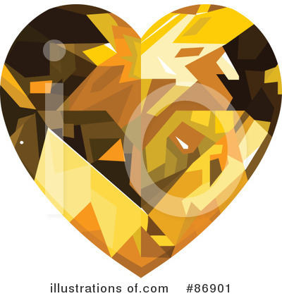 Diamond Heart Clipart #86901 by Pushkin