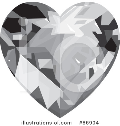 Diamond Heart Clipart #86904 by Pushkin