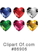 Royalty-Free (RF) Diamond Heart Clipart Illustration #86906