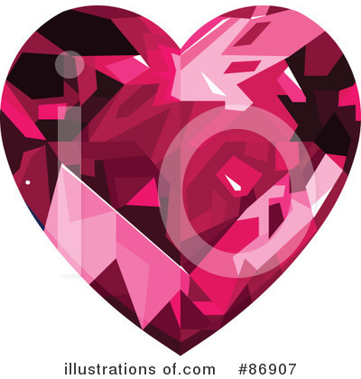 Diamond Heart Clipart #86907 by Pushkin