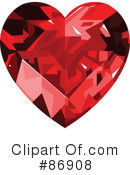 Diamond Heart Clipart #86908