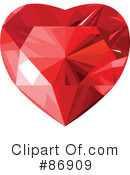 Royalty-Free (RF) Diamond Heart Clipart Illustration #86909