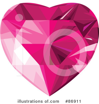 Diamond Heart Clipart #86911 by Pushkin