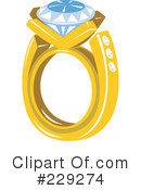 Royalty-Free (RF) Diamond Ring Clipart Illustration #229274