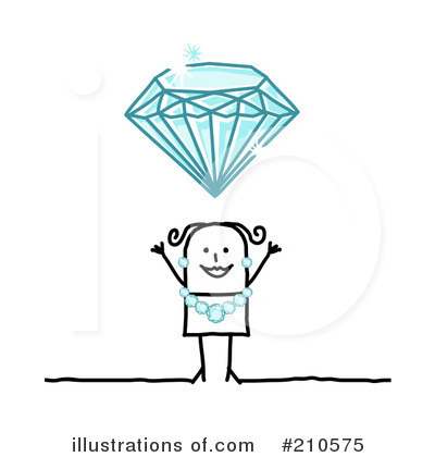 Royalty-Free (RF) Diamonds Clipart Illustration by NL shop - Stock Sample #210575