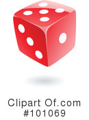 Royalty-Free (RF) dice Clipart Illustration #101069
