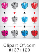 Royalty-Free (RF) Dice Clipart Illustration #1371120