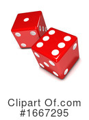 Dice Clipart #1667295 by Steve Young
