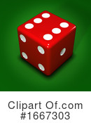 Dice Clipart #1667303 by Steve Young