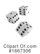 Dice Clipart #1667306 by Steve Young