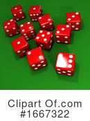 Dice Clipart #1667322 by Steve Young