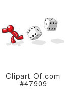 Royalty-Free (RF) dice Clipart Illustration #47909