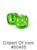 Royalty-Free (RF) dice Clipart Illustration #50405