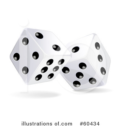 Dice Clipart #60434 - Illustration by Oligo
