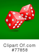 Royalty-Free (RF) dice Clipart Illustration #77858