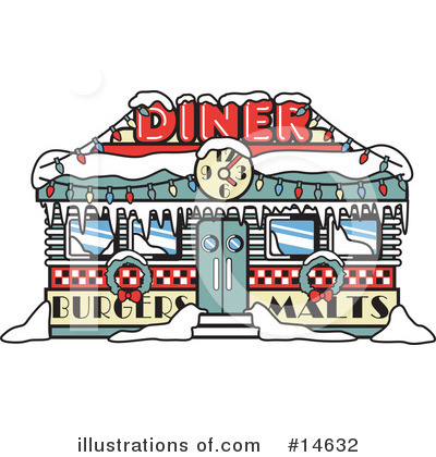 Royalty-Free (RF) Diner Clipart Illustration by Andy Nortnik - Stock Sample #14632