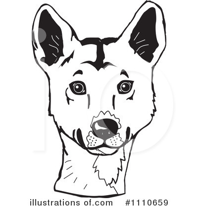 Dingo Clipart #1110659 by Dennis Holmes Designs
