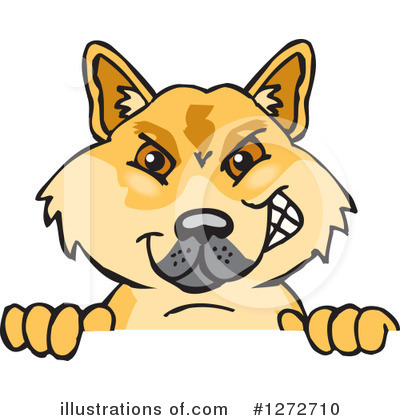 Dingo Clipart #1272710 by Dennis Holmes Designs