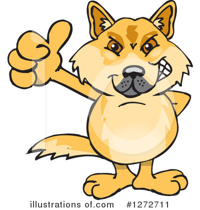 Dingo Clipart #1272711 by Dennis Holmes Designs